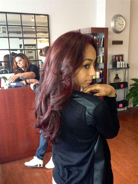 bright dark burgundy hair  tan skin hair pinterest