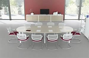 Table 14 Personnes : tables de r union table ovale iq 10 personnes erable naturel mobilier de bureau entr e ~ Teatrodelosmanantiales.com Idées de Décoration