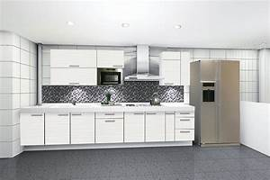 white kitchen cabinets how to realize this design With kitchen colors with white cabinets with how to make stickers with a printer