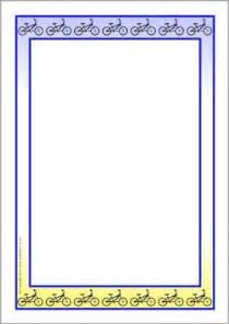 Cycling A4 page borders (SB8022) - SparkleBox | frames ...