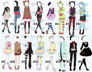 Cute outfit batch 2 closed! Thankyou! by Toki-Doki-Adoptables on DeviantArt