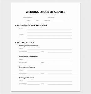 event program outline 13 printable samples examples With wedding blessing order of service template
