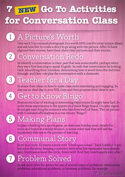activities  conversation class poster
