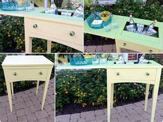 redoing kitchen cabinets sewing machine cabinet turned drink cooler and serving 4623