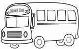 Bus Coloring Cartoon sketch template