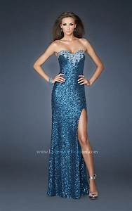 La femme prom dress. #long #blue #sparkly #pretty #sequin ...