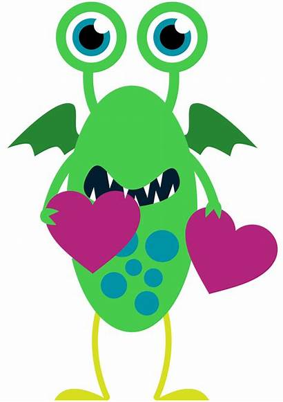 Valentine Clip Monster Clipart Projects Valentines Happy