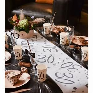Chemin De Table Anniversaire : chemin de table anniversaire 30 ans intiss d co ~ Melissatoandfro.com Idées de Décoration