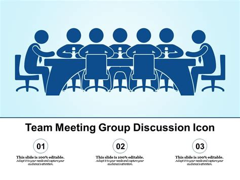 team meeting group discussion icon powerpoint