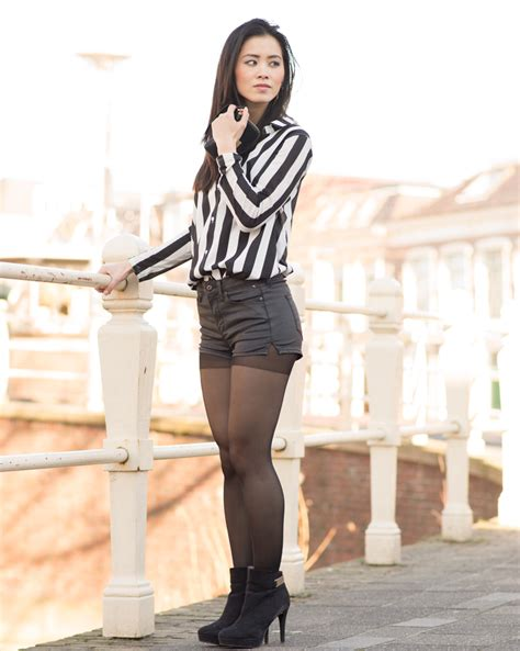 outfit striped blouse  hotpants  beauty musthaves