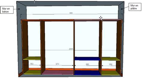 plan de dressing chambre dressing entre deux murs verticaux