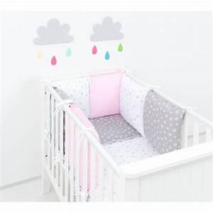 Parure De Lit Rose Et Gris : stunning tour de lit bebe gris et rose ideas awesome interior home satellite ~ Melissatoandfro.com Idées de Décoration