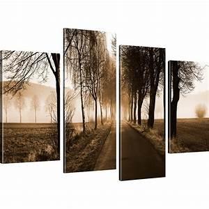 Bilder Natur Leinwand : bilder nebliger weg wandbilder auf leinwand b ume natur landschaft ebay ~ Markanthonyermac.com Haus und Dekorationen