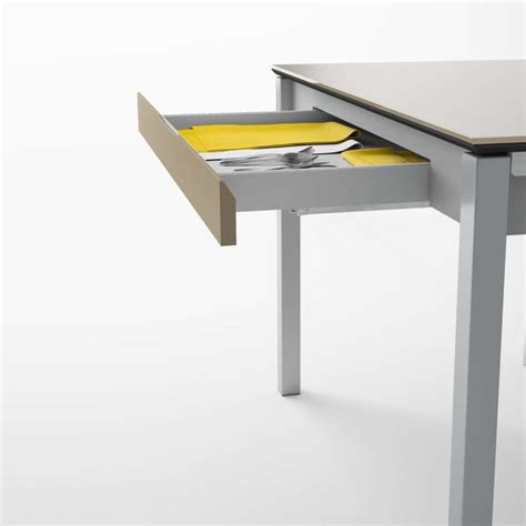 Table De Cuisine Avec Tiroir table de cuisine en verre extensible avec tiroir camel