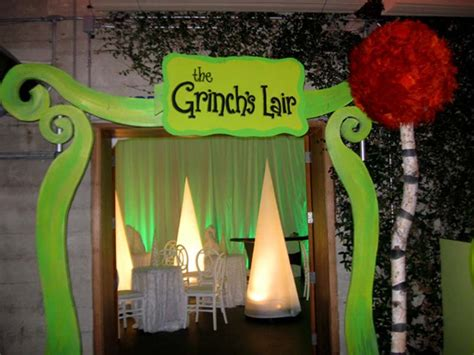 grinch inspired decorating theme and props rick herns productions san francisco bay area