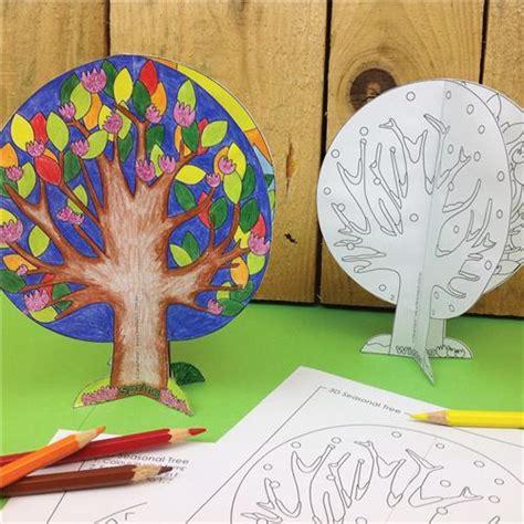 seasonal tree paper card cleverpatch art