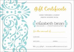 :: gift certificates :: « Elizabeth Bean Photography