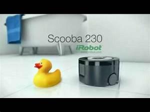 Robot Laveur De Sol : robot laveur de sol irobot scooba 230 youtube ~ Nature-et-papiers.com Idées de Décoration