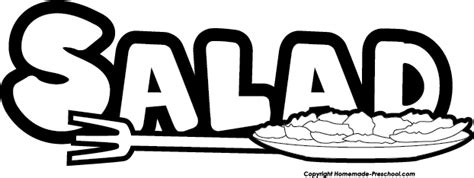 salad clipart black and white free chef clipart