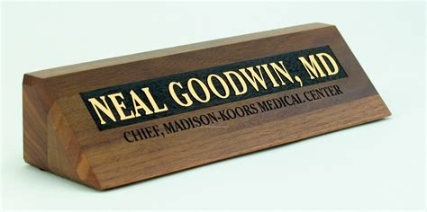 desk name plate designs 2 quot x8 quot solid walnut desk nameplate with laser carved design