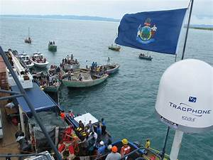 At last, Sea Hunteroffloading Haiti relief supplies ...
