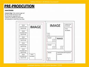 Media music magazine pre production layout template for Magazine templates for pages