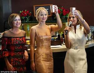 Jennifer Lawrence raises a glass at opening night of Derby ...
