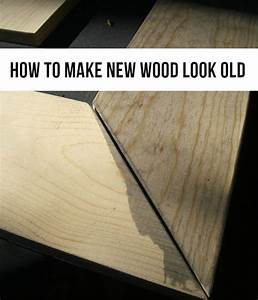 How To Make New Wood Look Old The Crafty Frugalista