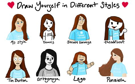 Draw Yourself In Different Styles By Agiroflee98 On Deviantart