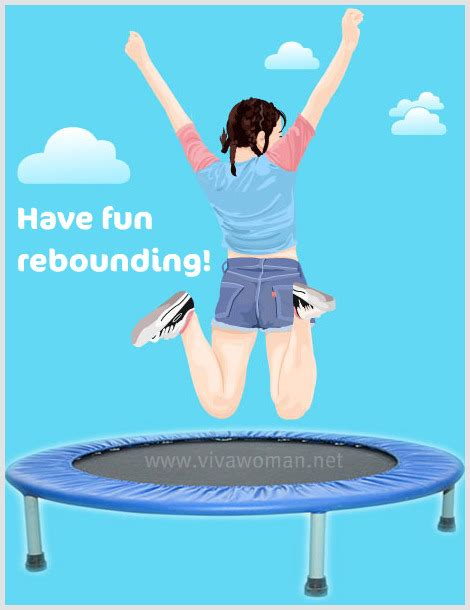 Rebound On A Trampoline For Health & Beauty