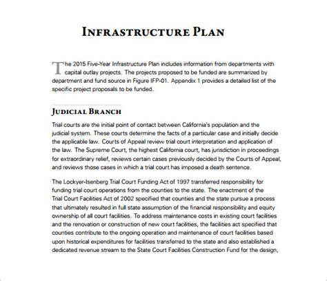 It Infrastructure Project Plan Template by 13 5 Year Plan Templates Free Sle Exle Format