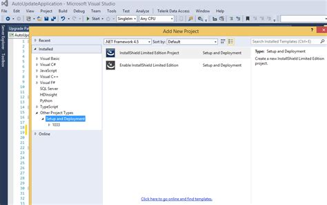 It's the industry standard for developers creating installers for. Auto-Update Windows Form Appliction Using InstallShield
