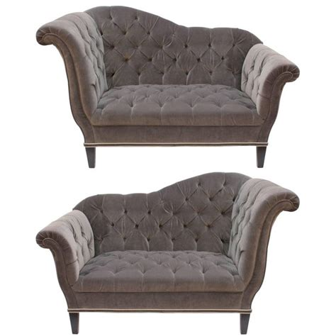 Settee Legs by 1stdibs Settee Tufted Upholstery Wooden Legs American