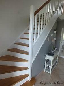 plus de 1000 idees a propos de escalier sur pinterest With peindre un escalier en gris 2 escalier deco peint en blanc marches et rambarde en bois