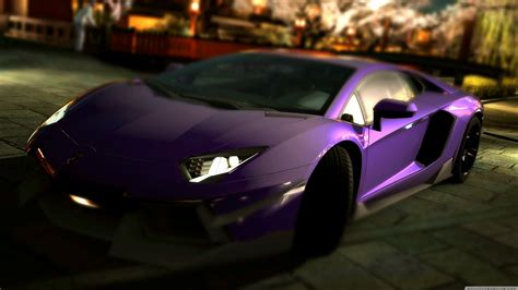 lamborghini aventador lp  purple  hd desktop