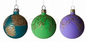 Collection of New Year's - Christmas tree toys   Stock ...
