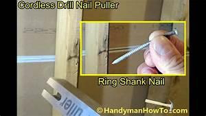 Cordless Drill Nail Puller - Ring Shank Nail