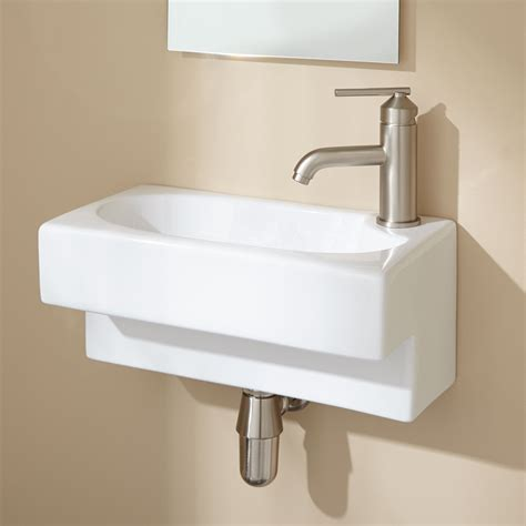 hanser wall mount bathroom sink
