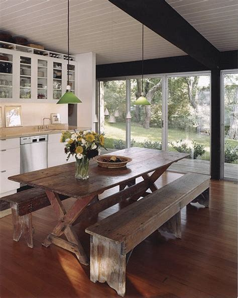 narrow dining room table  bench apartment living