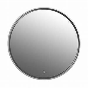 Miroir Rond Salle De Bain : miroir rond led miroir lumineux pour salle de bain ~ Nature-et-papiers.com Idées de Décoration