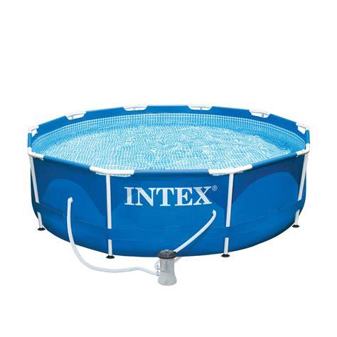 intex 10 x 30 quot metal frame swimming pool walmart