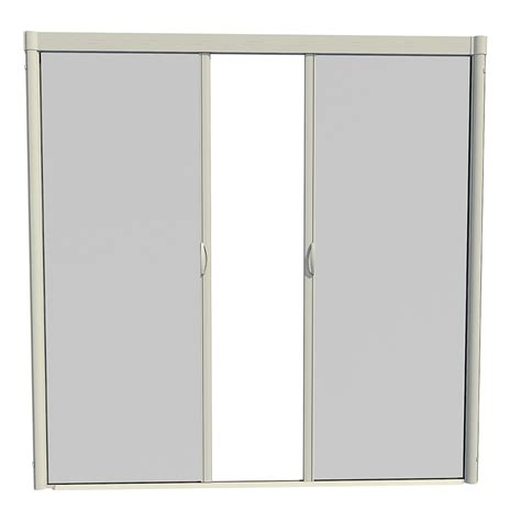 shop larson escape almond aluminum retractable curtain