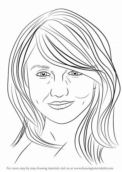Cameron Diaz Draw Drawing Step Celebrities Learn