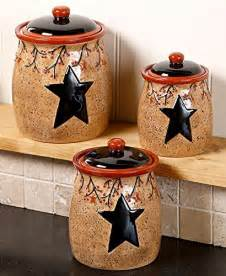 country kitchen canister sets set of 3 primitive rustic berries canisters country kitchen storage or