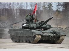 T90A main battle tank red flag Russian Army Russia Parade