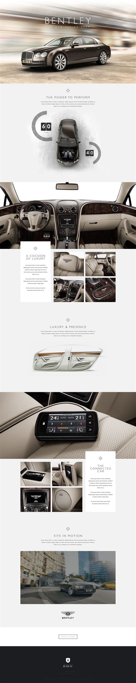 web bureau cool automotive web design on the bentley