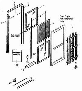 Sears Sears Insulating Storm  Screen Door Parts