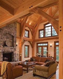 Timber Treasure Timber Frame Home Great Room Elegant