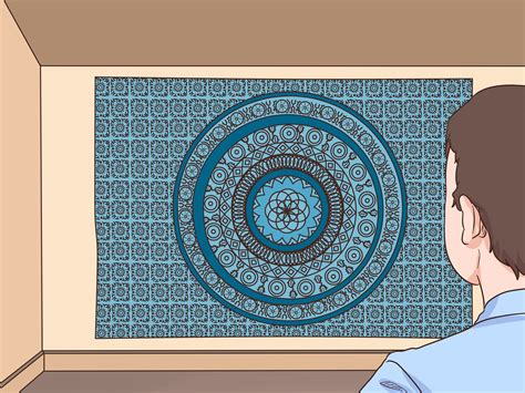 tapestry hang dorm room wall ways wikihow