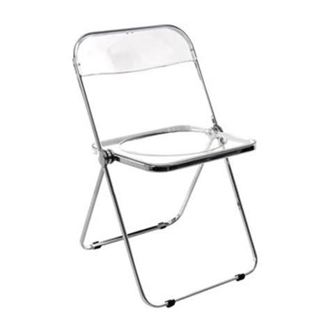 chaise pliante transparente plia folding chair castelli ambientedirect com